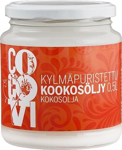 Kylmäpuristettu luomu kookosöljy Cocovi